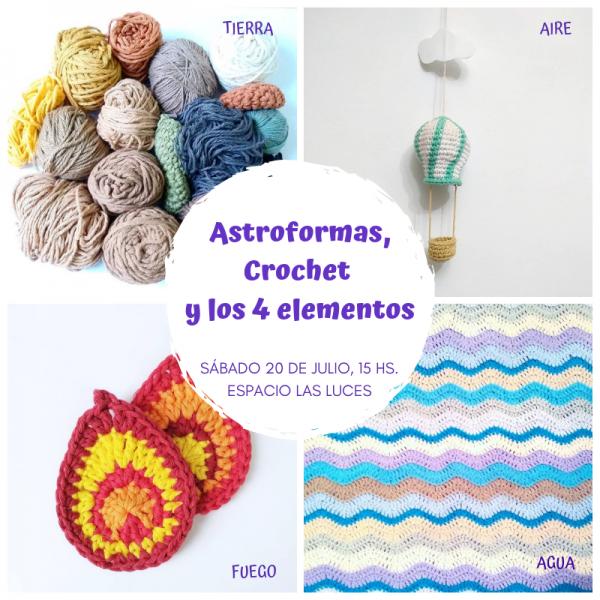 Universo Cora King - Workshops - Taller Astroformas + Crochet y los 4 elementos