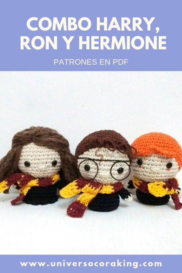 Universo Cora King - Combos - Combo Hogwarts x 3 PDF - Harry, Ron y Hermione