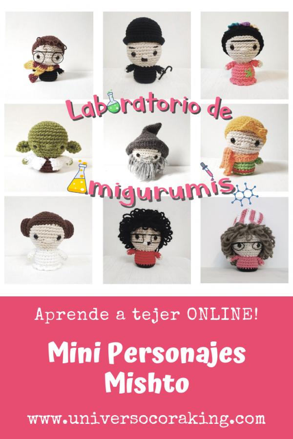 Laboratorio de Amigurumis - ONLINE - Mini Personajes - Universo Cora King