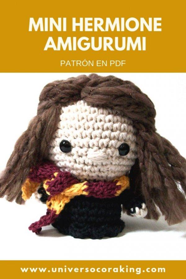 Universo Cora King - Mini Personajes Mishto - Mini Hermione Granger - Patrón en PDF