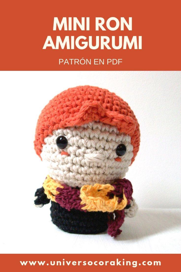Universo Cora King - Mini Personajes Mishto - Mini Ron Weasley - Patrón en PDF