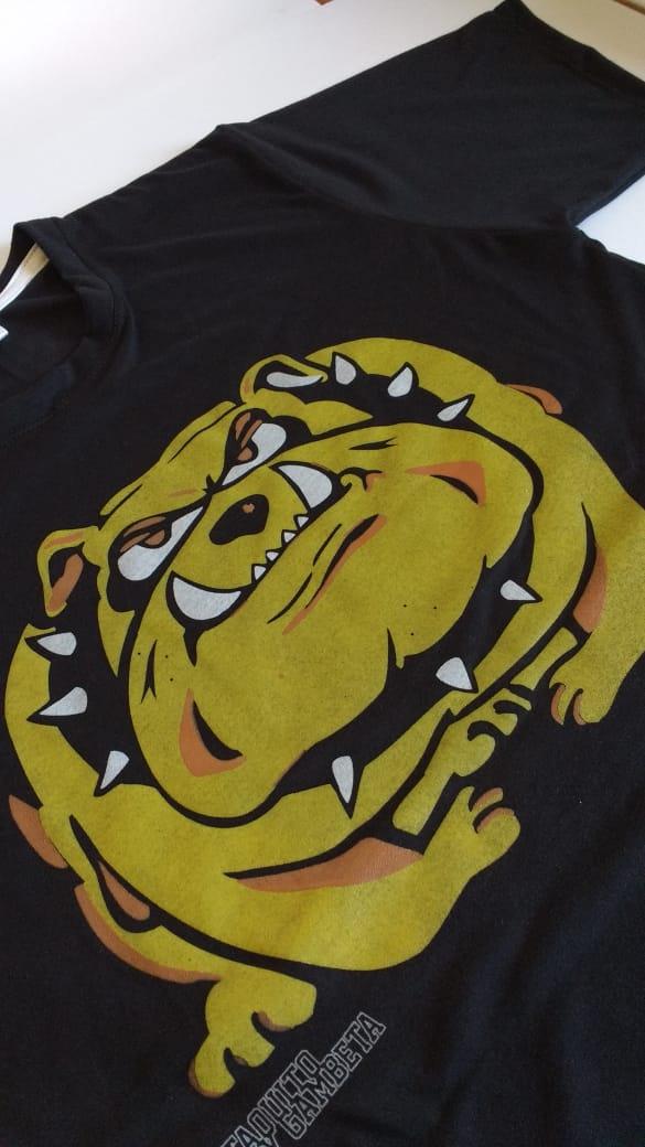 Remera bulldog - taquito y gambeta