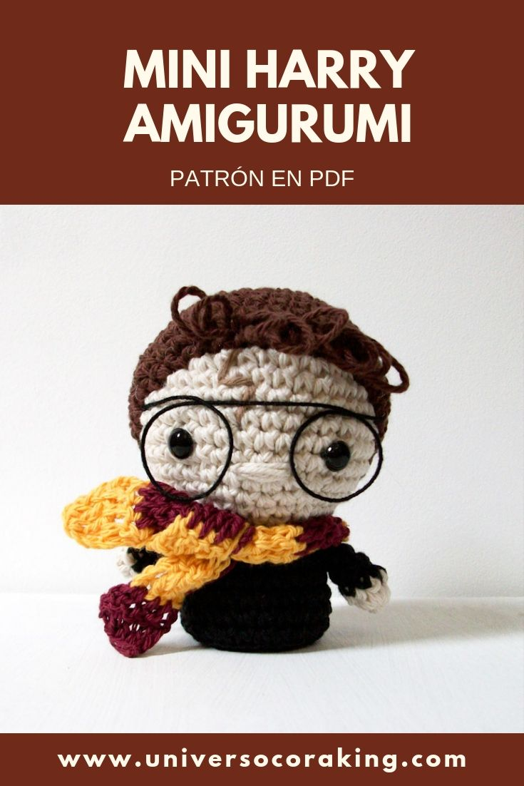 Universo Cora King - Mini Personajes Mishto - Mini Harry Potter - Patrón en PDF